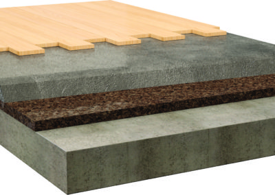 Aislamiento al impacto de pavimentos flotantes con losa de compresión